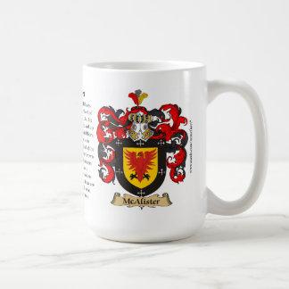 McAlister, el origen, el significado y el escudo Taza De Café