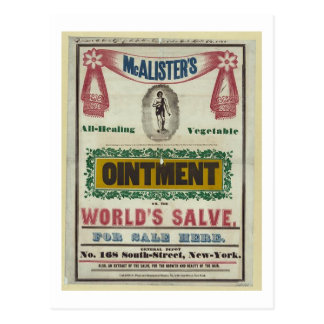 McAlister s All-Healing Vegetable Ointment Advert Post Cards
