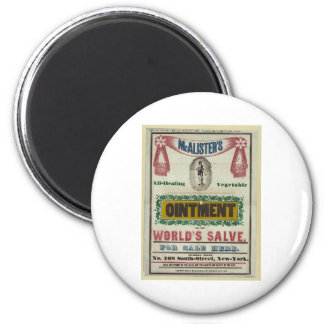 McAlister's All-Healing Vegetable Ointment Advert 2 Inch Round Magnet