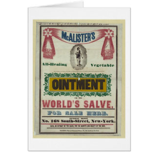 McAlister's All-Healing Vegetable Ointment Advert Card