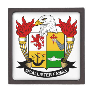 McAllister Family Crest Jewelry Box