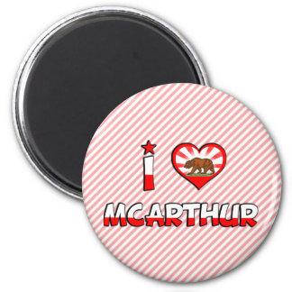 McArthur, CA 2 Inch Round Magnet