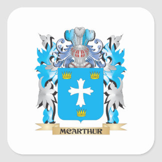 Mcarthur Coat of Arms - Family Crest Square Sticker