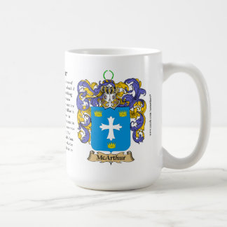 McArthur, the Origin, the Meaning and the Crest Coffee Mug