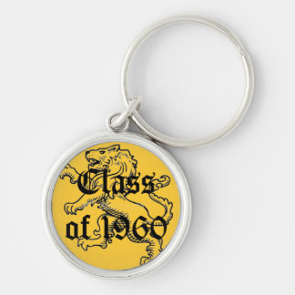 McAuley High School Class of 1960 Silver-Colored Round Keychain