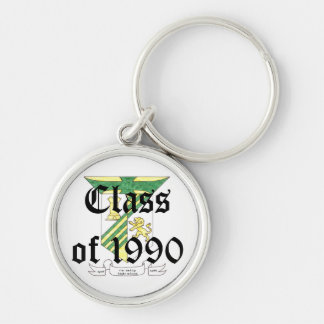 McAuley High School Class of 1990 Silver-Colored Round Keychain