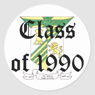 McAuley High School Class of 1990 Round Stickers