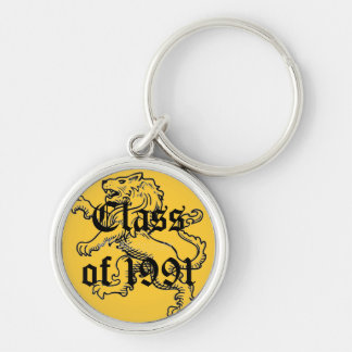 McAuley High School Class of 1991 Silver-Colored Round Keychain