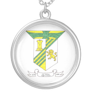 McAuley High School Coat of Arms Silver Plated Necklace