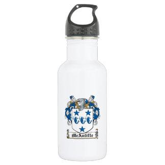 McAuliffe Family Crest 18oz Water Bottle