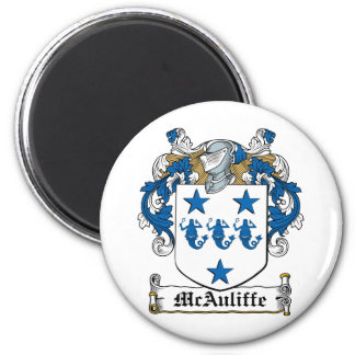McAuliffe Family Crest 2 Inch Round Magnet