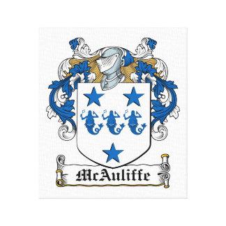 McAuliffe Family Crest Canvas Print