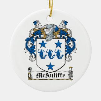 McAuliffe Family Crest Ceramic Ornament