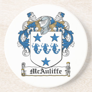 McAuliffe Family Crest Drink Coaster
