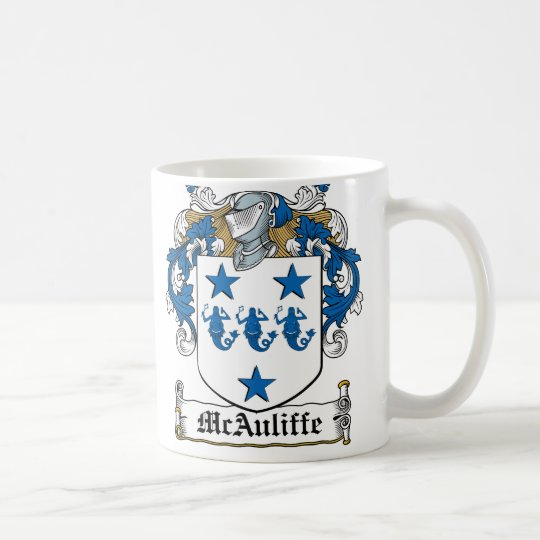 McAuliffe Family Crest Coffee Mug