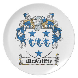 McAuliffe Family Crest Dinner Plates