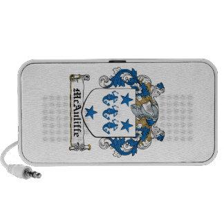 McAuliffe Family Crest iPhone Speakers