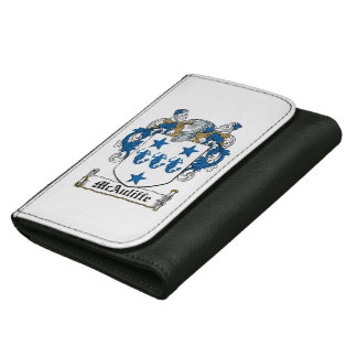 McAuliffe Family Crest Leather Wallets