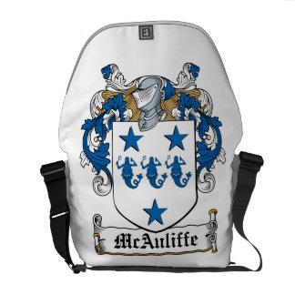 McAuliffe Family Crest Messenger Bags