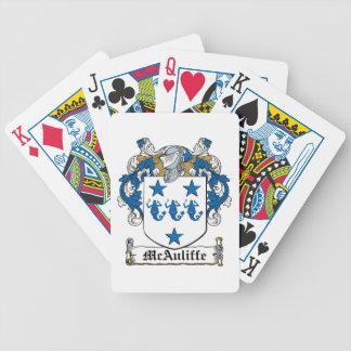 McAuliffe Family Crest Poker Deck