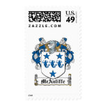 McAuliffe Family Crest Postage Stamp