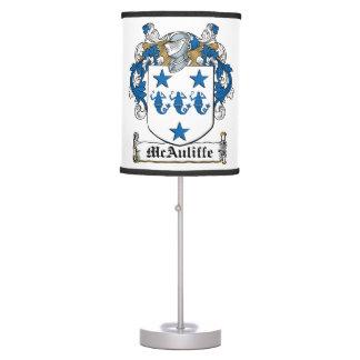 McAuliffe Family Crest Table Lamp