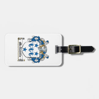McAuliffe Family Crest Tag For Bags