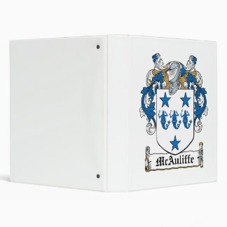 McAuliffe Family Crest Vinyl Binders