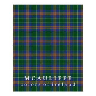 McAuliffe Tartan Colors of Ireland Poster