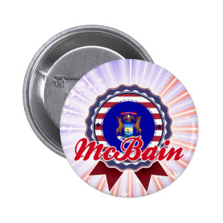 McBain, MI Pinback Button