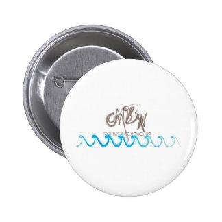 McBain Ocean Designs Brushed Pinback Buttons