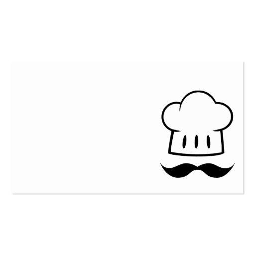 MCBHM CARTOON GRAPHIC LOGO MASTER CHEF HAT BAKER B BUSINESS CARD