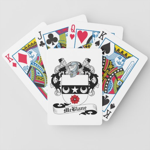 McBlane Family Crest Bicycle Playing Cards
