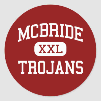 McBride - Trojans - Middle - Muscle Shoals Alabama Classic Round Sticker