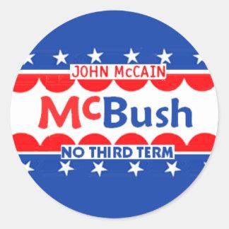 McBUSH NO THIRD TERM Sticker