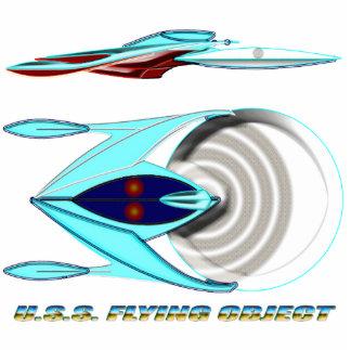MCC-1947_U.S.S. FLYING OBJECT_UFO Class Photo Sculpture Magnet