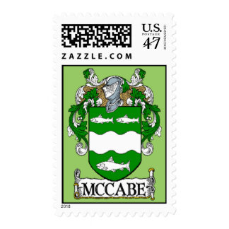 McCabe Coat of Arms Postage Stamps
