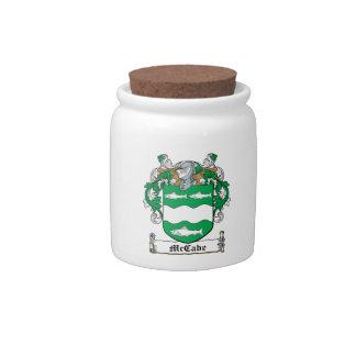 McCabe Family Crest Candy Jar
