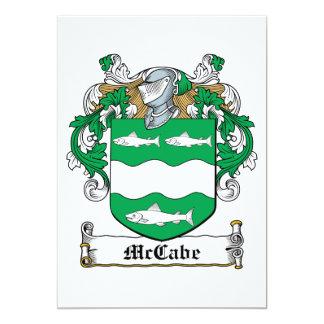 McCabe Family Crest Invitations