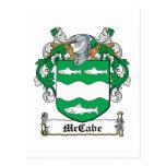 McCabe Family Crest Postcard