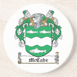 McCabe Family Crest Sandstone Coaster