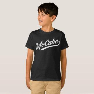 McCabe Script - WHITE INK T-Shirt