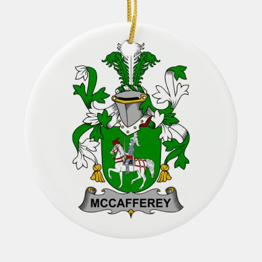 McCafferey Family Crest Double-Sided Ceramic Round Christmas Ornament