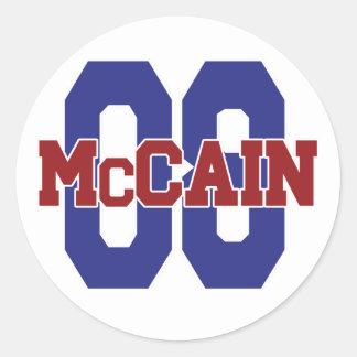 McCain '08 Round Sticker