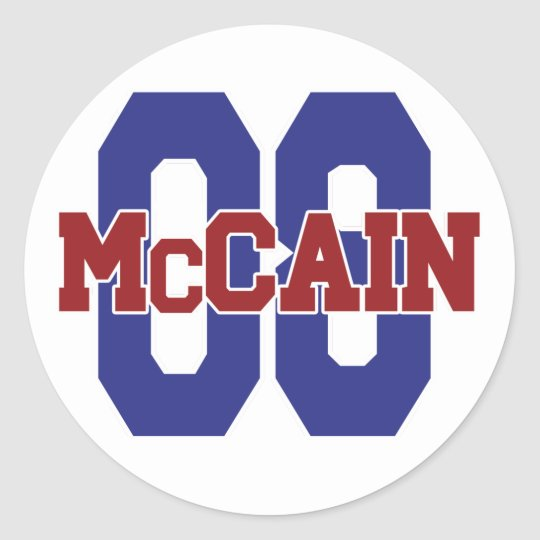 McCain '08 Round Sticker