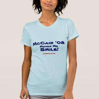 McCain '08 Smile Ladies T Shirt