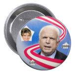 McCain/botón de la cinta de Palin Pin