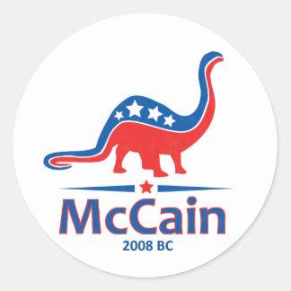 McCain Brontosaurus Classic Round Sticker