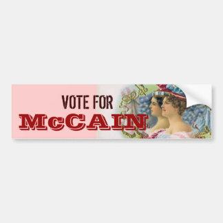 McCain Bumper Sticker Car Bumper Sticker