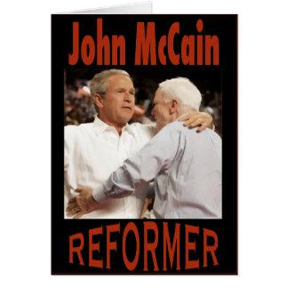 "McCain-Bush ""reformador "" Tarjeta De Felicitación"